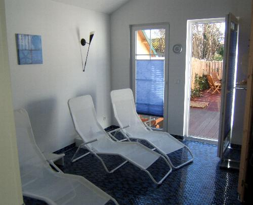Ostseeheilbad Zingst: Saunabereich für Wohnungen DEICHIDYLL und SEELORD